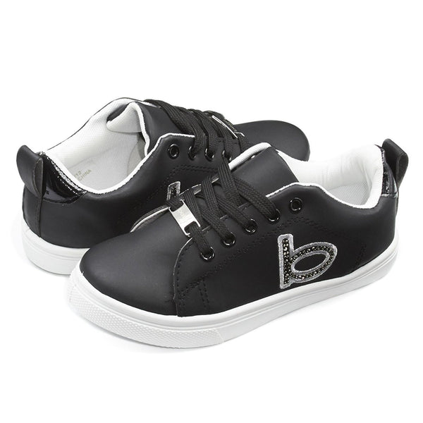 bebe Kids Girls Low Top Lace Up Sneakers With Studs (See More Colors and Sizes)
