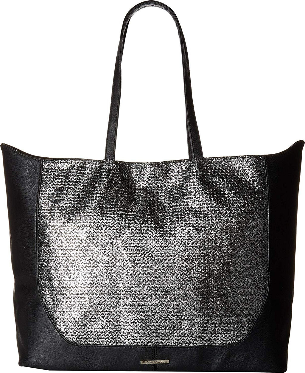 Rampage Womens Metallic Straw Tote
