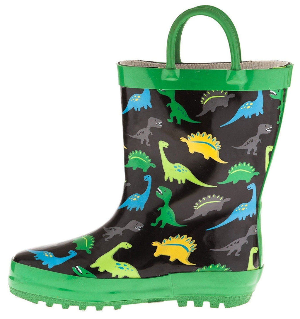Chatties Toddler Boys Printed Rainboot Size 7/8 Dinosaur
