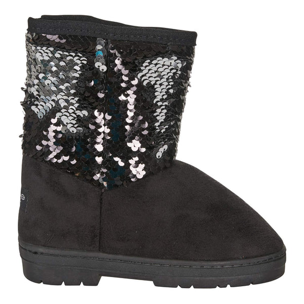 bebe Girls Microsuede Winter Boots with Reversible Sequins Casual Dress Shoes