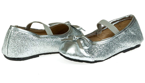 Chatties Toddler Girls Fine Glitter Ballet Flats (See More Colors/Sizes)