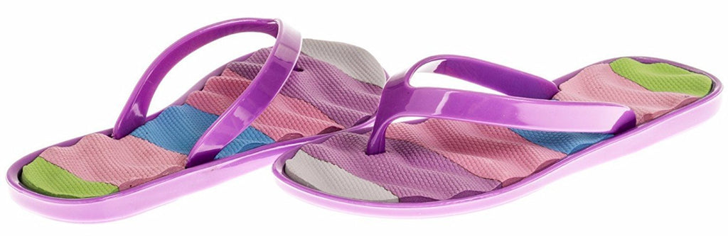 Chatties Girls Jelly Flip Flops - Purple, Size 10 / 11 (More Colors and Sizes Available)