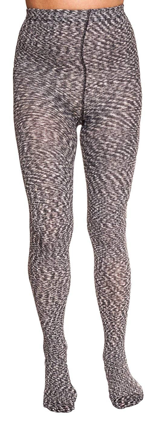 Nicole Miller Waffle Textured Footed Tight for Women
