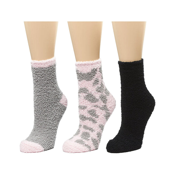 Marilyn Monroe Womens Ladies 3Pack Faux Wool Fabric Printed Cozy Crew Socks Size 9-11 (See More Colors)