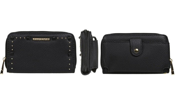 RAMPAGE Zip Around Wallet with Back Pocket for Smart Phone