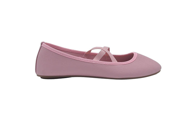 dELiAs Ladies Ballet Flats Slip On Shoes with Elastic Straps