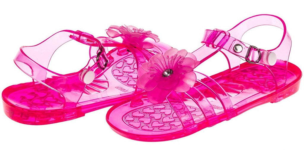 Chatties Toddler Girls Jelly Sandals - Fuchsia, Size 5/6 (More Colors and Sizes Available)