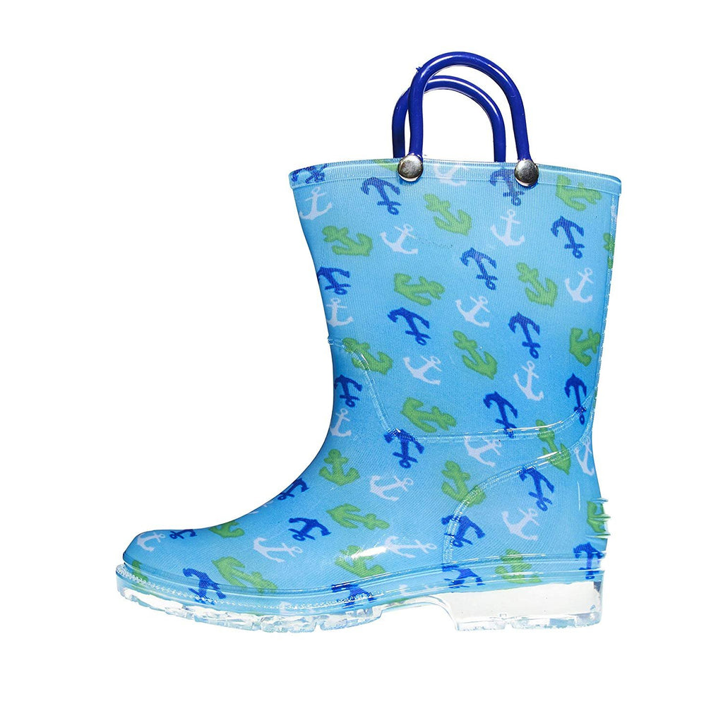 Zac & Evan Toddler Boys Printed High Cut Puddle Proof Rain Boots (See More Designs and Sizes)