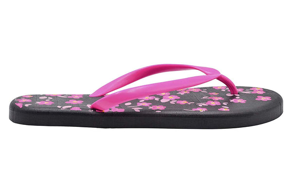 dELiAs Ladies Flip Flops PCU Sandal Slip On Thong Shoe with Fun and Colorful Contrasting Prints
