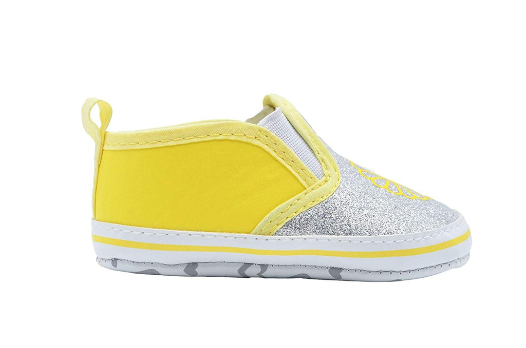dELiAs Infant Girl Crib Shoe Glitter Vinyl Slip On Sneaker