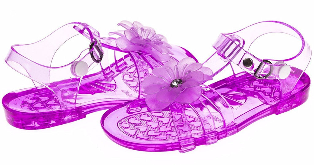 Chatties Toddler Girls Jelly Sandals - Purple, Size 9/10 (More Colors and Sizes Available)