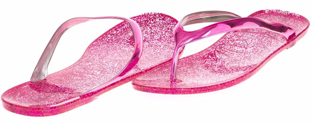 JouJou Ladies Thong Jelly Sandal Size 9 / 10 (Fuchsia) - (Multiple Colors and Sizes Available)