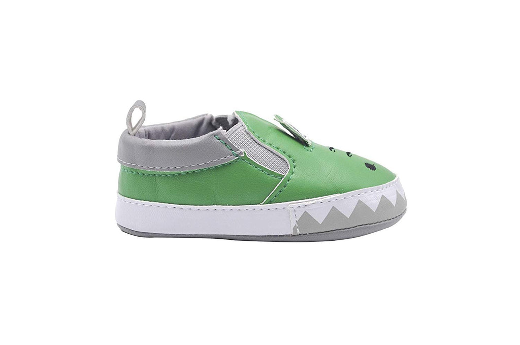 Zac & Evan Infant Boy Crib Shoe Slip On Animal Sneakers