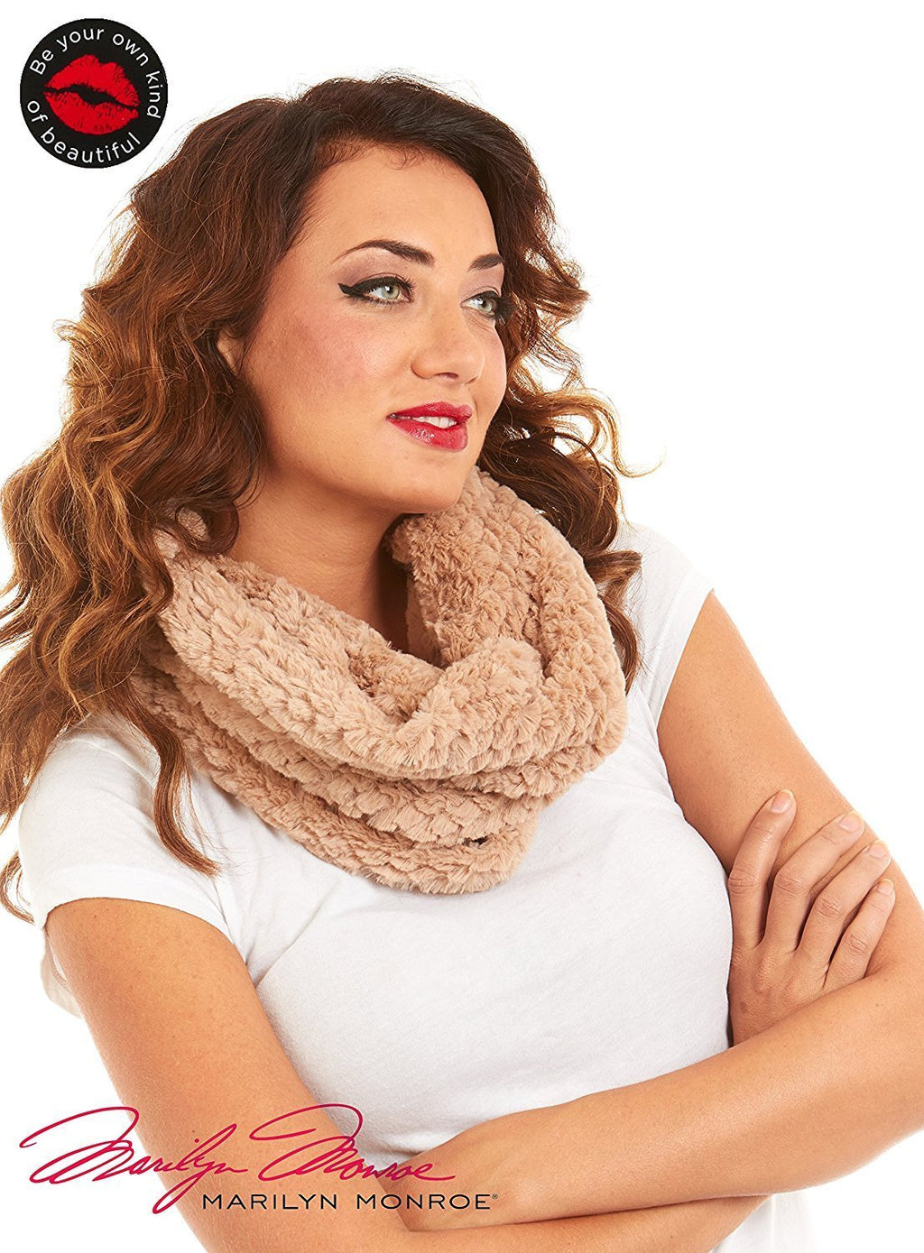 Marilyn Monroe Women Faux Fur Infinity Fashion Scarf