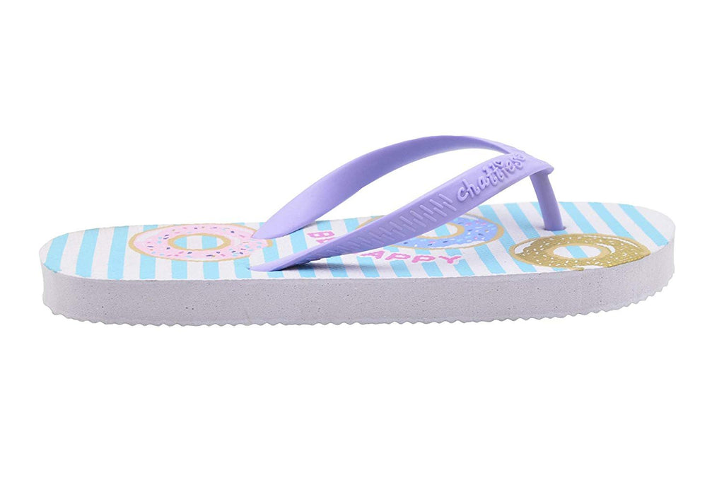 Chatties Girls' Flip Flop Little Kid Cute Mix N Match Print Slip On Summer Thong Sandal