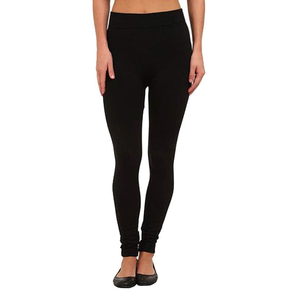 Nicole Miller Fleece Lined Seamless Leggings - Black - M/L