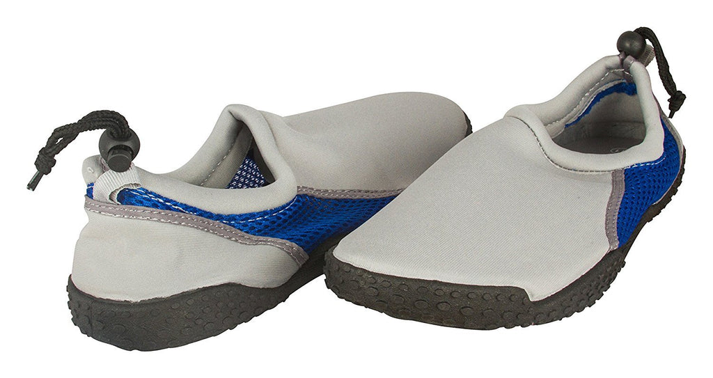 Zack & Evan Mens Neoprene and Mesh Water Beach Shoe with Strap