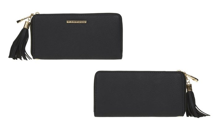 RAMPAGE Zip Around Wallet With Tassel