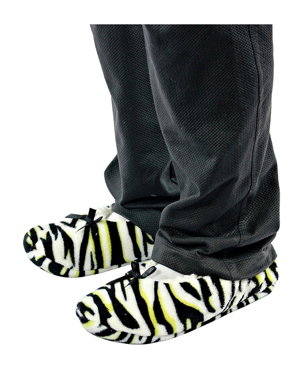 Nicole Miller Ladies Printed Slipper Sock for Womens»7/8 Zebra