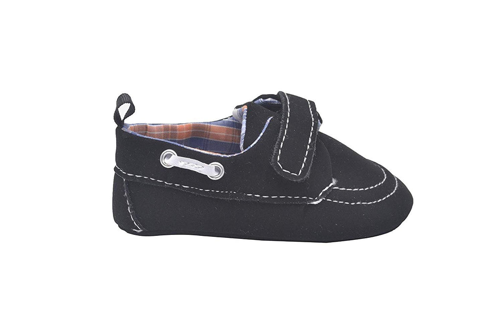 Revo Infant Boy Crib Shoe Boat Shoe with Plaid Liner