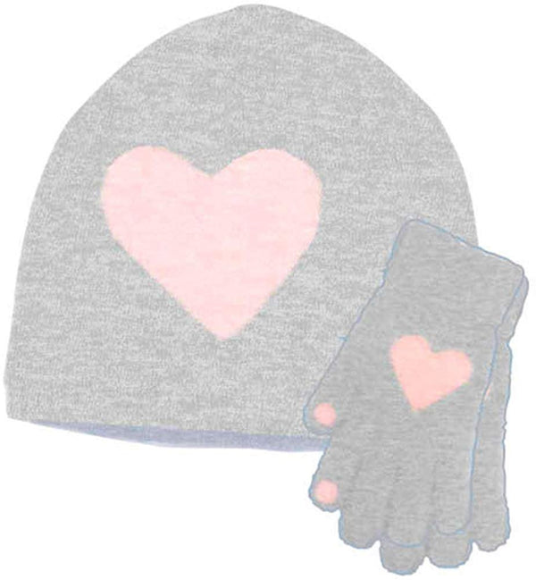 BCBG Girls Little Kid 2 Piece Slouchy Feather Yarn Knit Beanie Cap and Glove Set