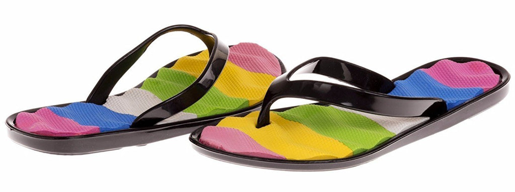 Chatties Girls Jelly Flip Flops - Black, Size 10/11 (More Colors and Sizes Available)