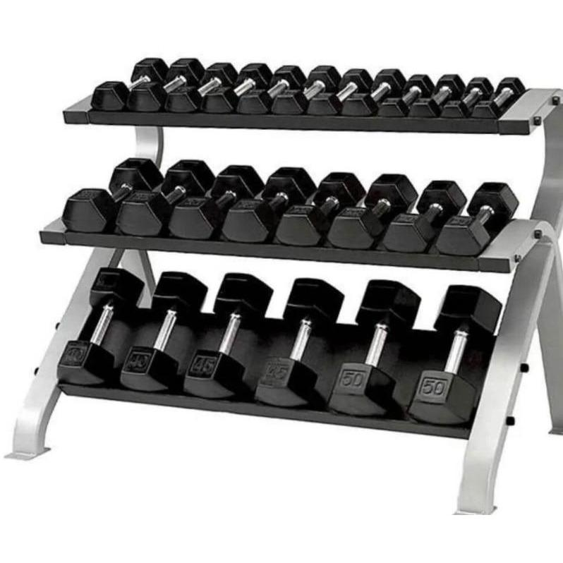 Element Fitness Commercial 3-Tier Hex Dumbbell Rack E-3821