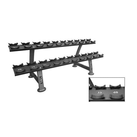 Tag Fitness 2-Tier Dumbbell Rack with Saddle Laser Cut RCK-CDR22