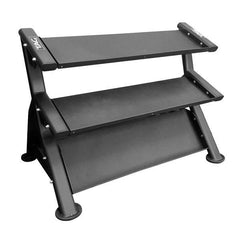 Tag Fitness 3 Tier HEX 5-75 Flat Tray Horizontal Dumbbell Rack RCK-HDR70