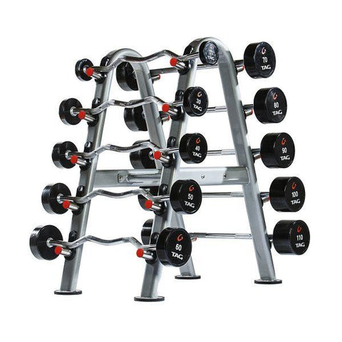 Tag Fitness 10 Unit Fixed Barbell Rack RCK-BBR