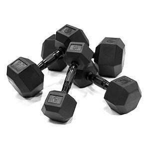 Element 55-75 lbs Virgin HEX Dumbbell Set Free Weight - Home Gym USA