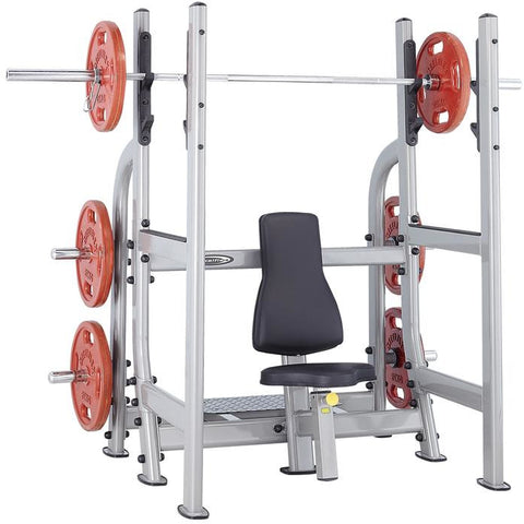 Steelflex NOMB Commercial Metallic Silver Olympic Military Bench STLFX-NOMB
