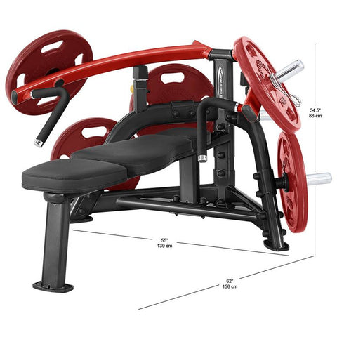 SteelFlex PLBP 25 Degree Converging Pattern Plate-Loaded Bench Press Machine STLFX-PLBP