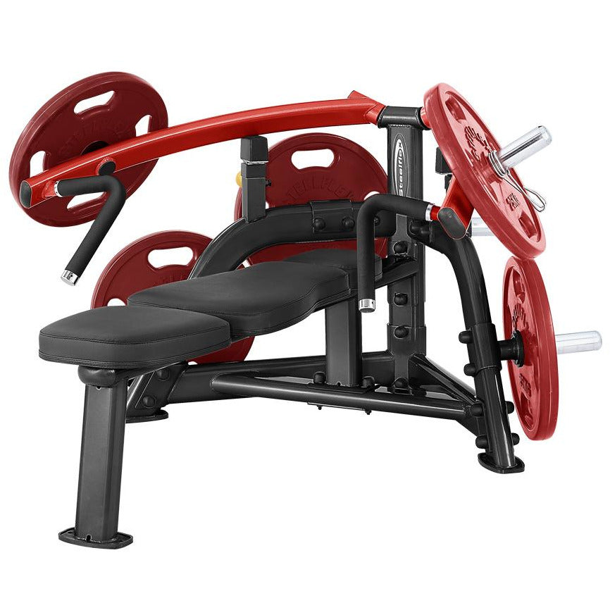 SteelFlex 25 Degree Converging Pattern Plate-Loaded Bench Press Machine STLFX-PLBP