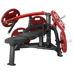 Image of SteelFlex 25 Degree Converging Pattern Plate-Loaded Bench Press Machine STLFX-PLBP
