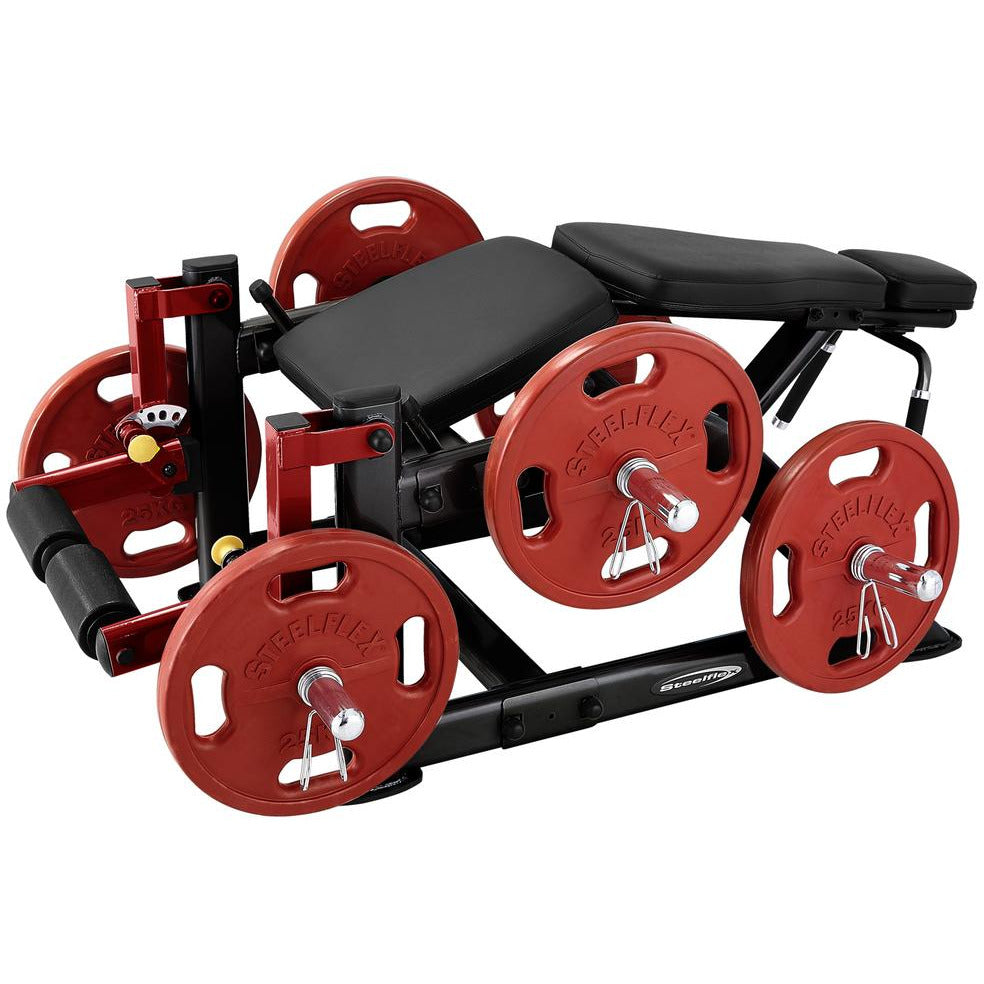 SteelFlex 5-Levels Adjustable Positions Plate Loaded Leg Curl Machine STLFX-PLLC
