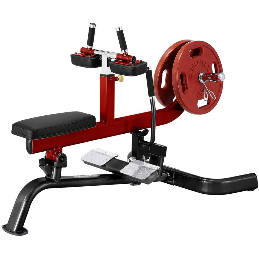 SteelFlex PLSC Adjustable Press Arms PlateLoad Seated Calf Press Machine STLFX-PLSC