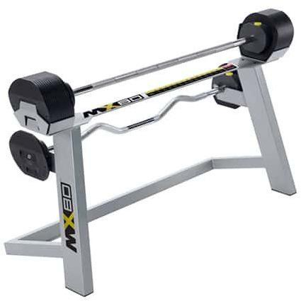 MX Select 20-80 lb Selectorised Adjustable Barbell with Ez Curl Bar MX80