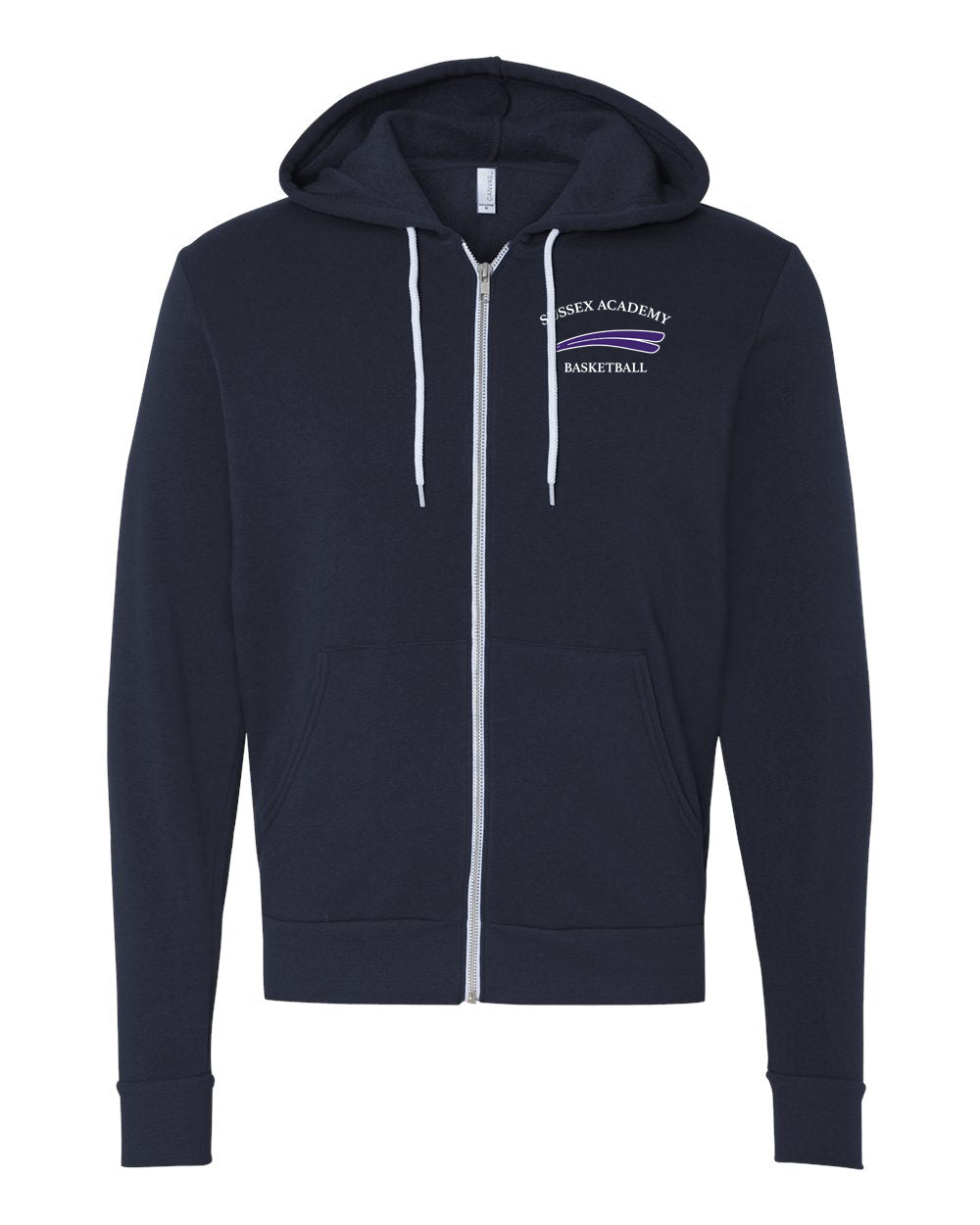 Bella+Canvas - Full-Zip Hooded Sweatshirt (ADULT)