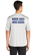 "Load image into Gallery viewer, ""Nobody Cares, Work Harder"" Performance T-Shirt (YOUTH)"