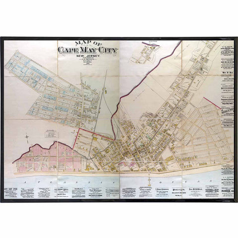 Cape May City 1886 Map Print - True Jersey