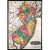 New Jersey 1834 Map Print - True Jersey