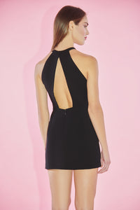 Minidress nero con maniche removable