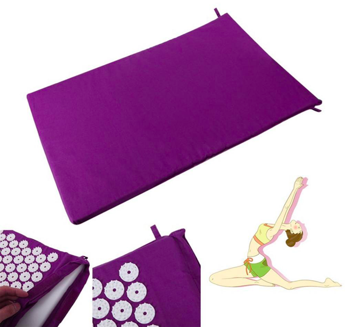 Lotus Acupuncture Yoga Mat Pillow Set Massager Premium Acupressure Massage Set for Neck Relief Muscle Pain easy to carry