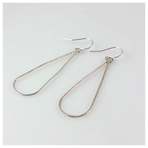 Long 16 Gauge S/S Teardrop Earrings