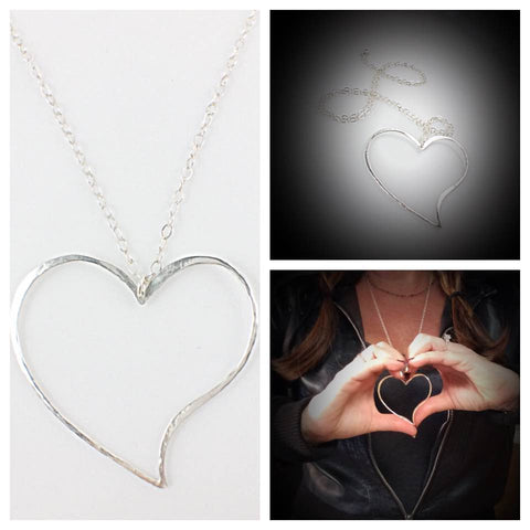Large Sterling Silver Heart 30