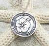 Fine Silver Hisbiscus Flower Pendant