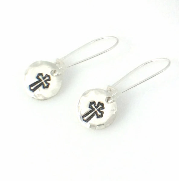 Bitty Betty Cross Earrings