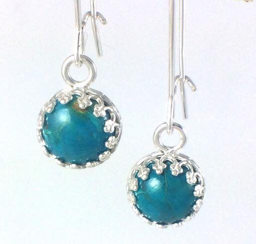 Chrysocolla Majestic Stone Drop Earrings