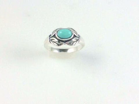 Mexican Turquoise Leaf Ring